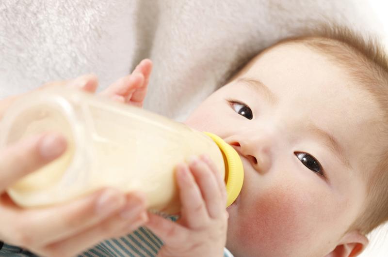 天然水でミルク